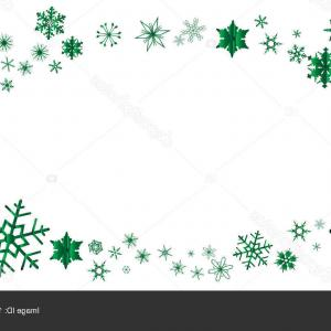 Green Oval Border Vector: Stock Illustration Green Christmas Snowflake Oval Border