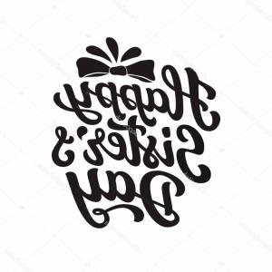 Sisters Lettering Vector: All Men Sisters Feminism Quote Woman