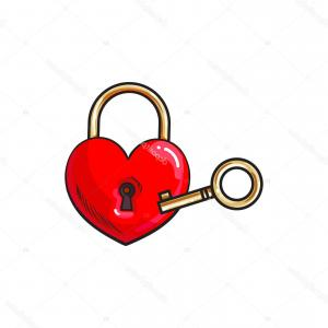 Heart Lock Vector: D Heart Lock Vector Illustration