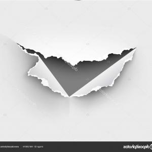 Ripped Black And White Vector: Assortment Ripped White Paper Against Black