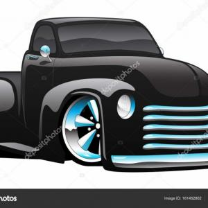Vector Hot Rod Engines: Stock Illustration Hot Rod Pickup Truck Illustration