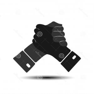 Handshake Vector Art: Shaking Hands Business Vector Illustration Isolated On White Background Gm