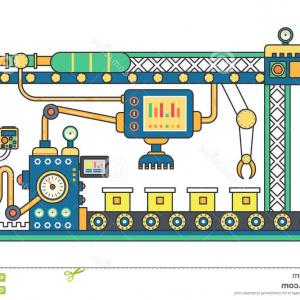 Vector Manufacturing Machine: Machine Parts Vector Illustration Machinery Flat Icons Set Manufacturing Work Detail Gm