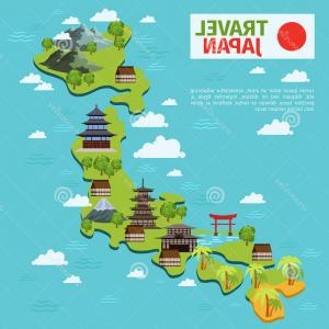 Japan Map Vector: Photostock Vector Japan Map In Line Style Vector Illustration On White Background