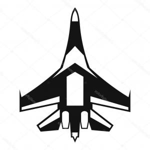 Military Aircraft Vector: Stock Illustration Jet Fighter Plane Icon Simple