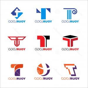 T Vector: Alphabetical Logo Design Concepts Letter T Vector