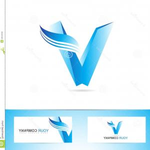V Logo Vector: Round Abstract Letter V Logo Vector