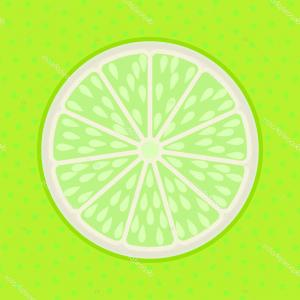Lime Wedge Vector Art: Stock Illustration Lime Slice Pop Art Style