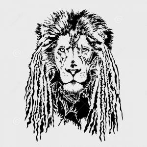 Dreadlock Football Player Silhouette Vector: Stock Illustration Lion Head Dreadlocks Editable Vector Graphic Rastafarian Image