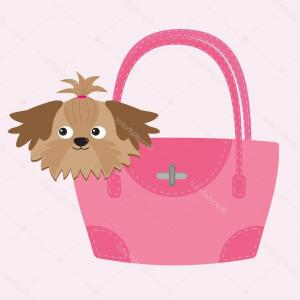 Shih Tzu Clipart-Vector: Stock Illustration Little Tan Shih Tzu Dog