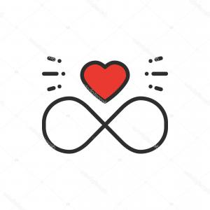 Infinity Heart Tattoo Vector: Abstract Heart Tribal Tattoo Design Vector