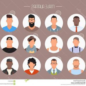 Stock Illustration Male Avatar Icons Vector Set People Characters Flat Style  Faces Different Styles Nationalities Design Elements Image