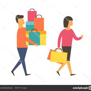 Vector People Man: Photostock Vector People Man And Woman Hold Trophy