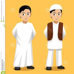 Beard Vector Manga Avatar: Stock Illustration Manga Muslim Man Cartoon Vector Illustration Style Eps File Format Image
