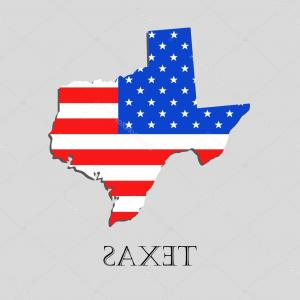 Texas American Flag Vector: Two Crossed American And Flag Of Texas Vector