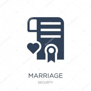 Wedding Certificate Vector: Stock Illustration Marriage Certificate Icon Vector White