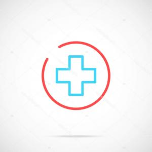 Thin Medical Vector: Stock Illustration Medical Cross Icon Medicine Healthcare