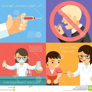 Vaccine Vector Pharmacy: Stock Illustration Medical Flu Vaccination Vector Concept Background Vaccine Against Virus Syringe Care Illustration Image