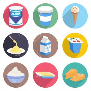 Yogurt Vector: Design Of Packing Of Yogurt With Strawberry Vector Clipart