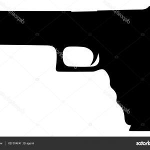 10 Vector Gun: Stock Illustration Mm Pistol And Bullets