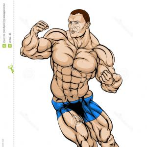 Vector Image Of Strong Wrestler: Angry Powerful Wrestler Character In Mask Vector