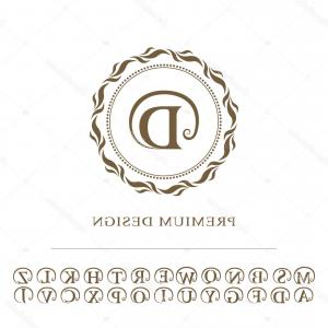 Jewelry Vector Line Art: Stock Illustration Monogram Design Graceful Template Calligraphic