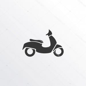 Moped Icon Vector: Stock Illustration Moped Icon Symbol Premium Quality