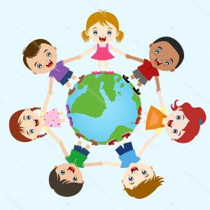 Multicultural Vector: Avatar Vector Illustration Multicultural National Children People