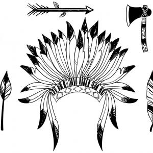 Native American Headdress Vector: Stock Illustration Native American Indian Headdress