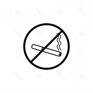 No Smoking Vector Art Black And White: Stock Illustration No Smoking Line Icon Prohibition Sign Forbidden Smoke Vector Graphics Linear Pattern White Background Eps Image