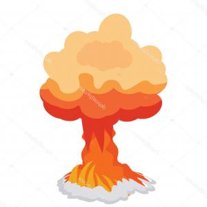 Atomic Bomb Explosion Vector: Stock Illustration Nuclear Explosion Depicting Atom Bomb
