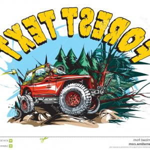 Jeep Off-Road Vector Art: Off Road Jeep Suv Vector Clipart
