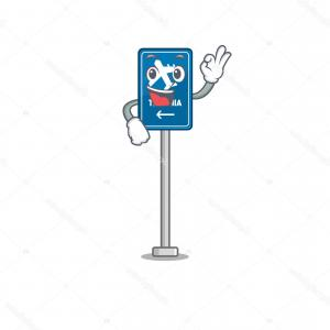 Airport Signages Vector: Stock Illustration Okay Airport Sign Stuck To