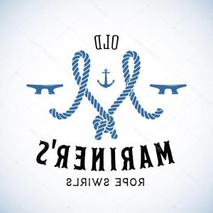 U S. Navy Shellback Logos Vector: The Old Lighthouse Nautical Abstract Retro Vector