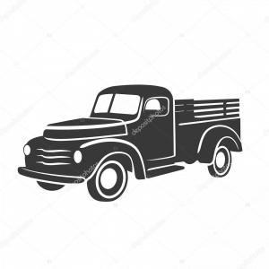 Packages On A Truck Vector: Stock Illustration Old Retro Pickup Truck Vector