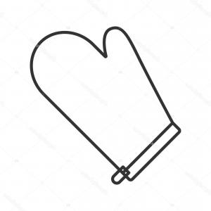 Oven Mitt Vector Graphics: Stock Illustration Oven Mitt Linear Icon
