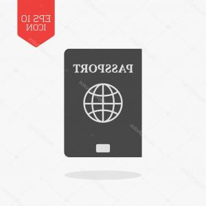 Navi Vector Graphic: Stock Illustration Passport Icon Flat Design Gray