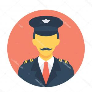 1900 Plane Icon Vector: Stock Illustration Pilot Flat Vector Icon