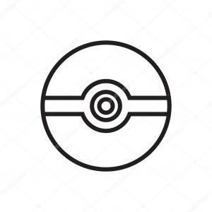 Red Pokeball Vector: Stock Illustration Pokeball Icon Flat Icon Vector