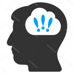 Problem Icon Vector: Stock Illustration Problem Brainstorm Flat Icon