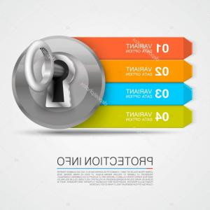 Arrow Lock And Key Vector: Stock Illustration Protection Info Arrow Key Infographic