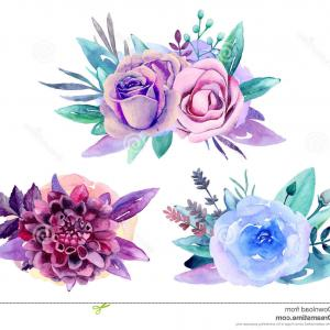 High Resolution Vector Watercolor Flowers: Delicate Watercolor Frame Roses Delicate Watercolor Set Floral Border Elements Wreath Isolated White Background Image