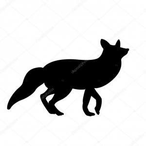 Fox Vector Illustration: Stock Illustration Red Fox Vector Illustration Black