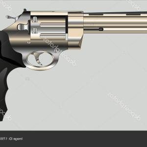 Colt Gun Vector Image: Stock Illustration Revolver Colt Anaconda Gun