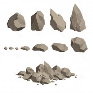 Vector Stone Landscaping: Stock Illustration Rocks Stones Set Vector Image