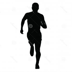 Male Silhouette Vector Art: Athletic Man Silhouette Of Standing Bodybuilder Vector Clipart