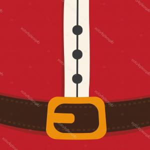 Vector Santa Belt: Stock Illustration Santa Claus Belt Merry Christmas