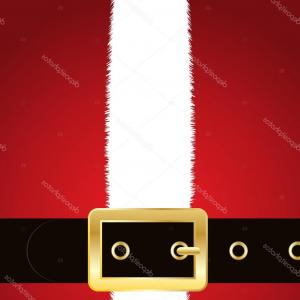 Vector Santa Belt: Santa Claus Suit Belt Background Copy