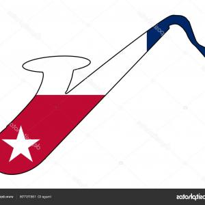 Texas State Silhouette Vector: Stock Illustration Saxophone Silhouette With Texas State
