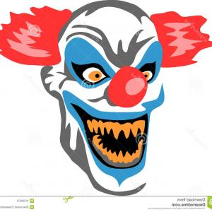 Creepy Clown Vector: A Creepy Clown With Orange Hair